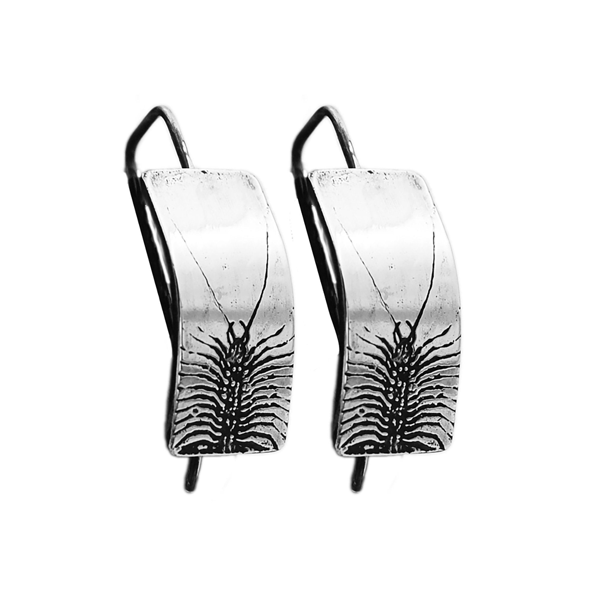 Sterling Silver Centipede Insect Earrings