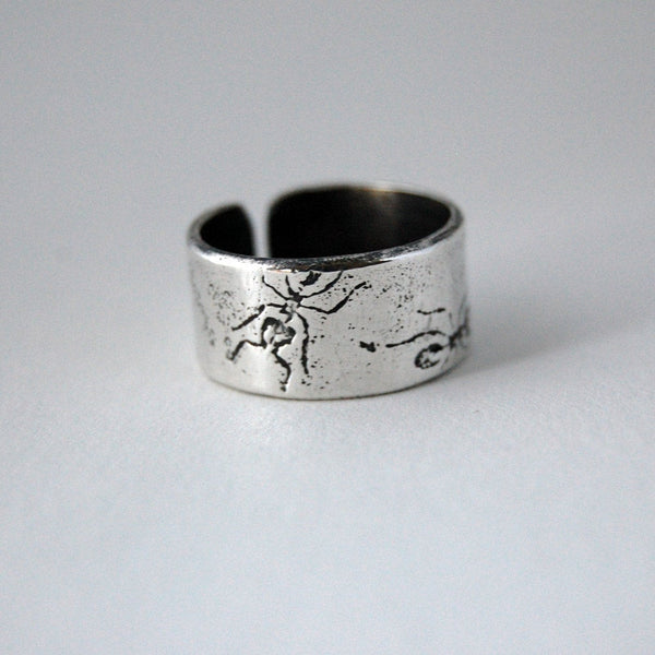 Sterling Silver Ant Insect Thumb Cuff Ring