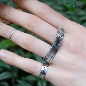 Handmade Sterling Silver Ant Insect Band Ring