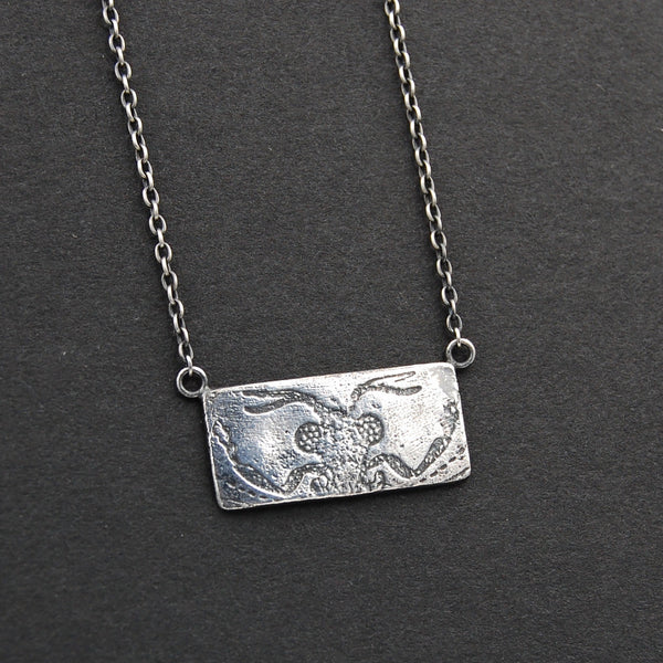 Strepsiptera or Stylops Twisted Wing Insect Parasite Necklace in Sterling Silver