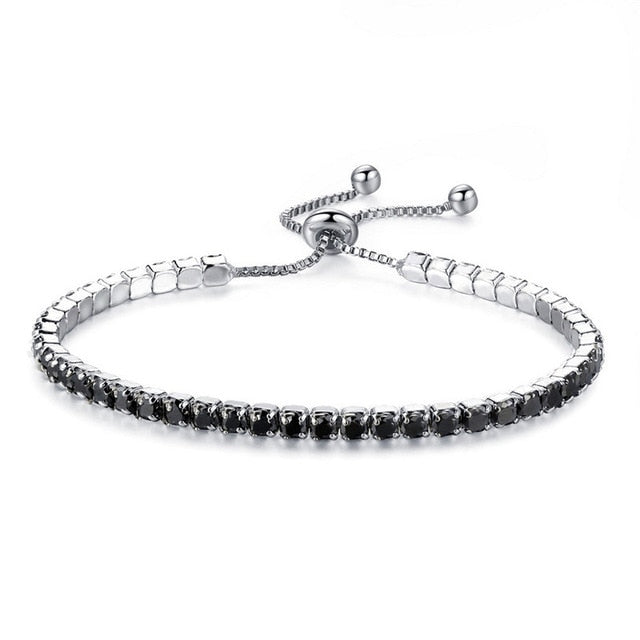 Adjustable Crystal Tennis Bracelet