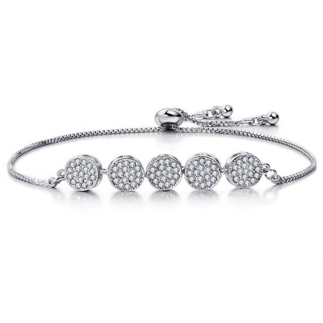 CZ Adjustable Tennis Bracelets in Various Styles