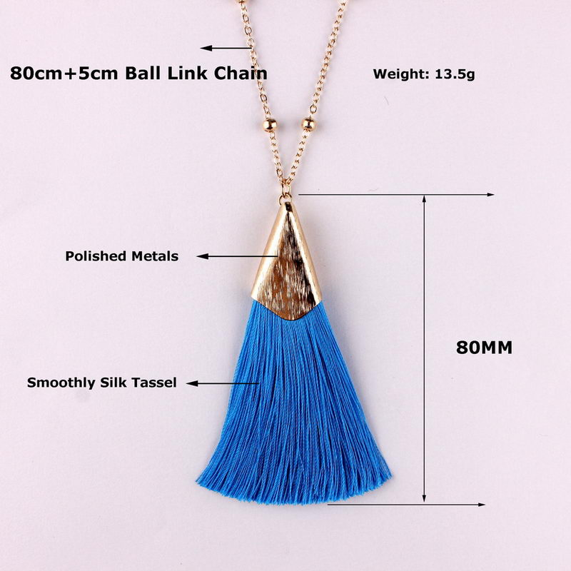 Boho Gold Tassel Necklaces