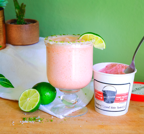 rose sherbet margarita
