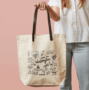 I Love You Washington Tote Bag
