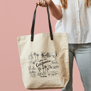 I Love You California Tote Bag