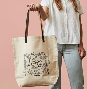 I Love You Oregon Tote Bag