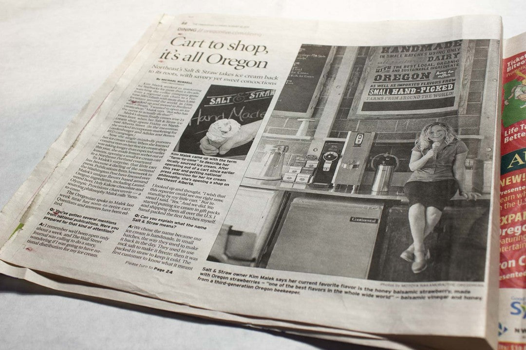 Oregonian newspaper spread