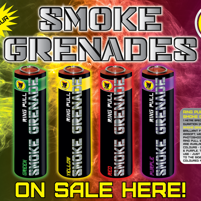 NEW FOR 2020 - SMOKE GRENADES