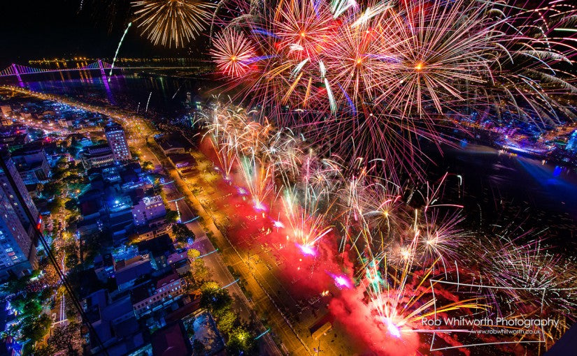 Dubai Flow Motion and Fireworks