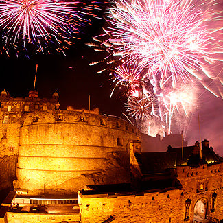 FIREWORKS AT THE EDINBURGH INTERNATIONAL FESTIVAL