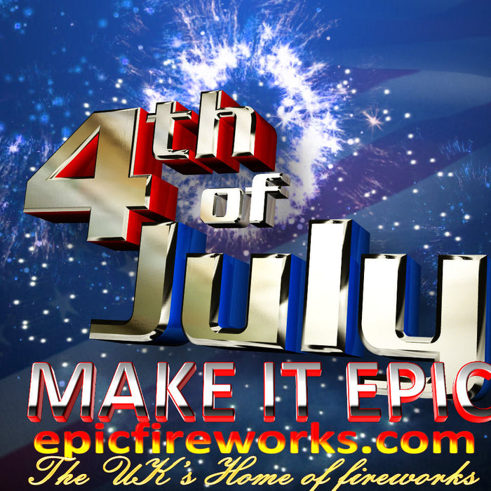 4th of July Celebration Poster - Epic Fireworks