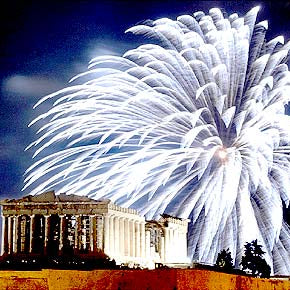 Greek Easter with Fireworks