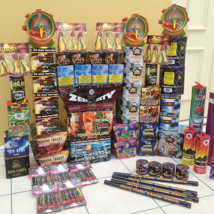 Epic Fireworks - boot full, backseat full, just another regular trip to the epic showroom
