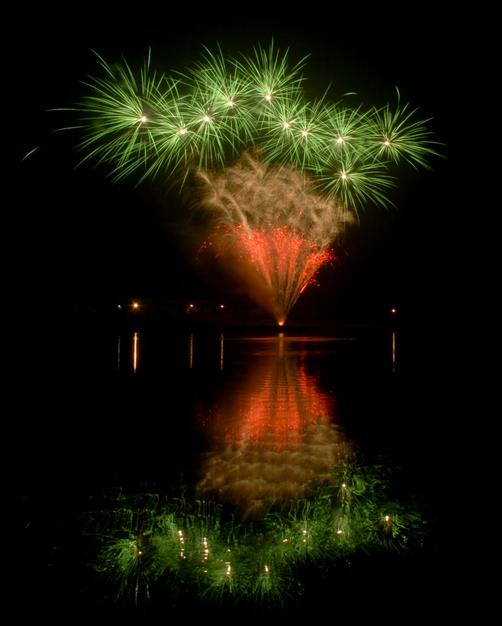 Fireworks and Water