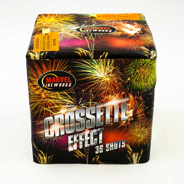 Crossette Effect 36 Shot Barrage by Marvel Fireworks