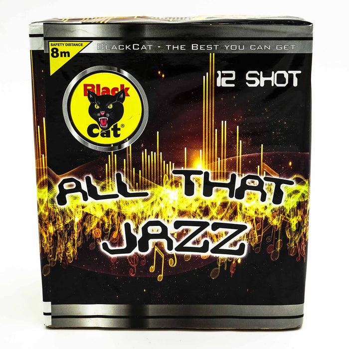 All That Jazz 12 Shot Barrage by Black Cat Fireworks