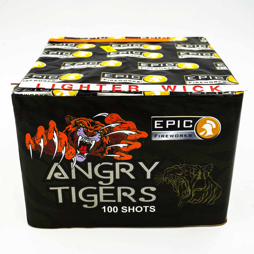Angry Tigers 100 Shot Single Ignition FInale Cake by Epic Fireworks