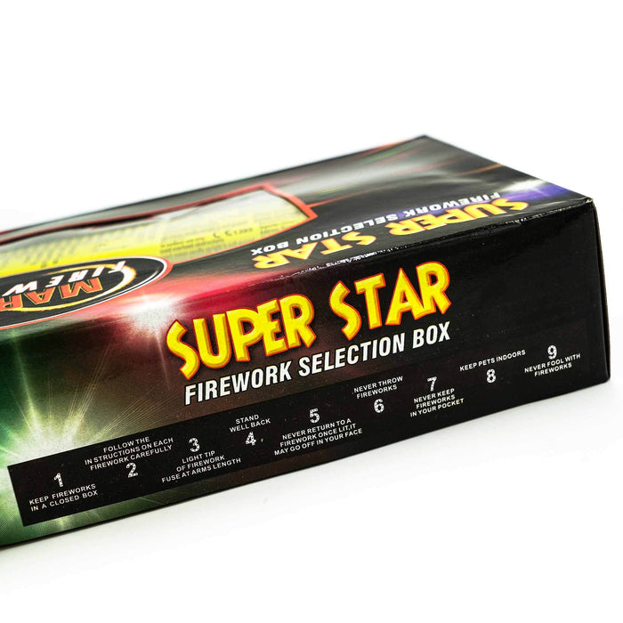 super star fireworks selection box