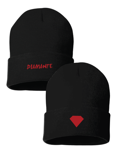 Red Diamond Knit Beanie