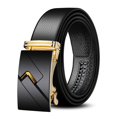 Men Fashion Leather Belts Luxury Business Cow Leather Waist Belt Cow Skin Leather Belt