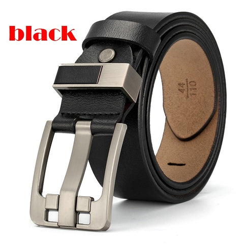 Men Genuine leather belt   luxury strap male belts for men pin buckle fancy vintage jeans