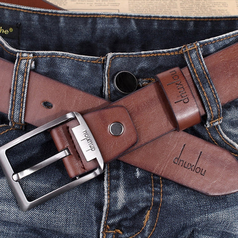 2017 Mens Belts New Waistband Black Buckle Leather Brown Waist Strap