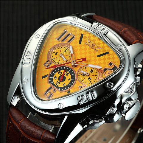 Luxury Triangle Shape Dial Mens Watches Designer Watch Auto Date 24 Hour Display Automatic Mechanical Male Relogio