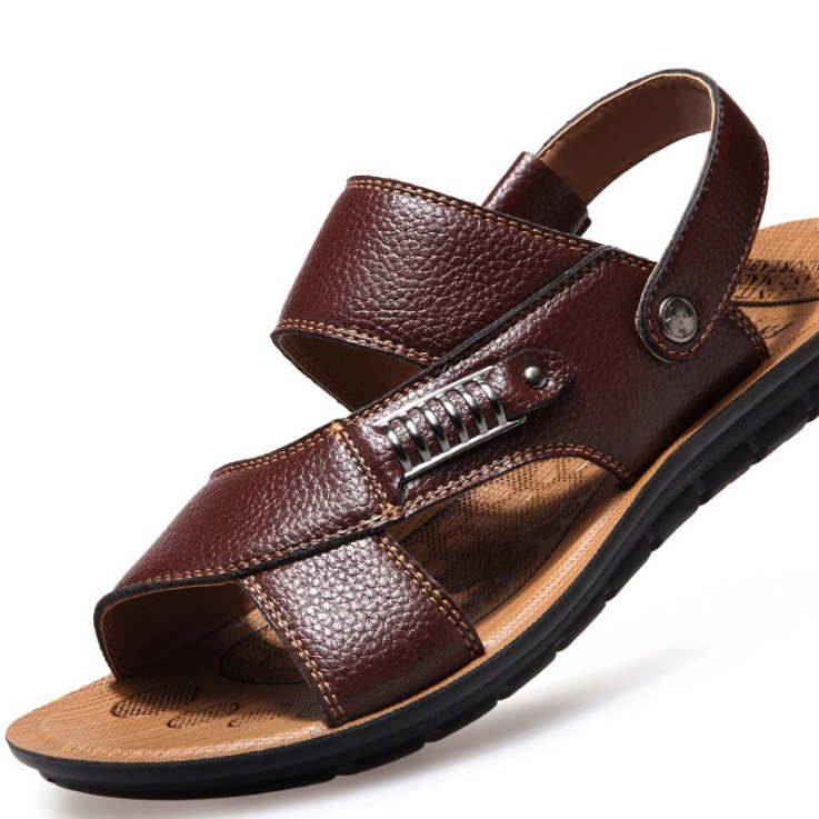 【New】Men's Leather Sandals