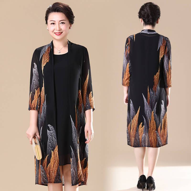 Luxury Two-piece Suit 【Real Silk Dress】