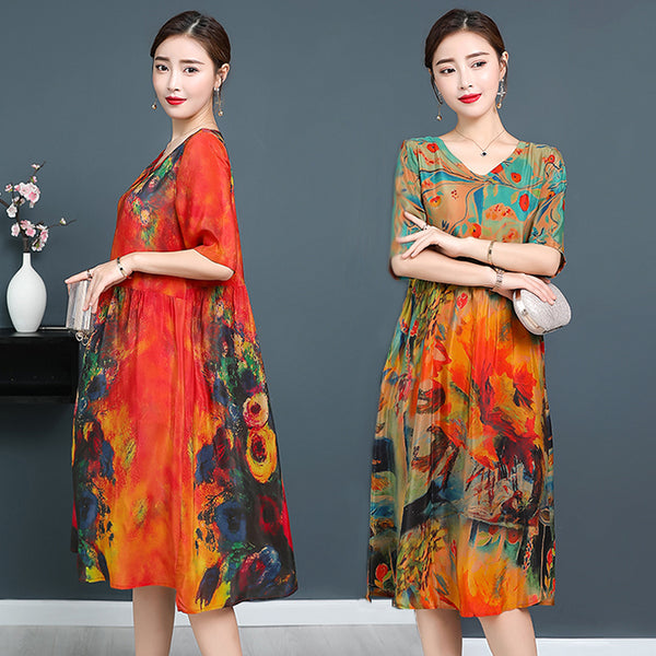 【HOT SALE】Luxury Silk Soft Dress & Genuine Silk