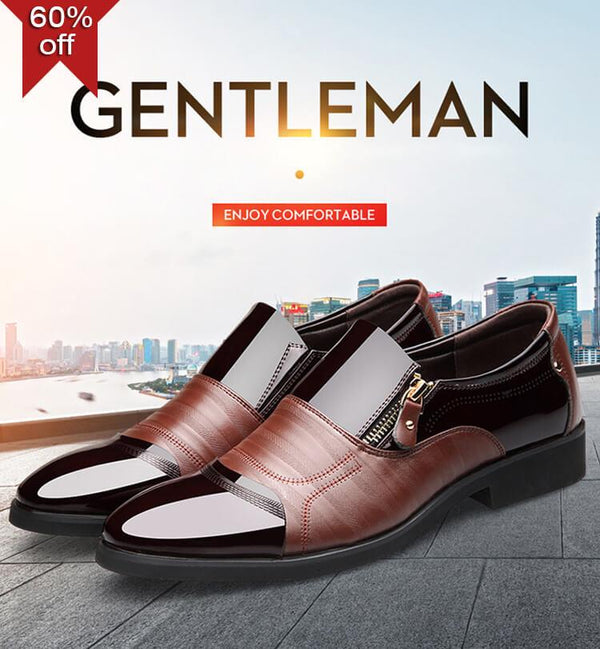 【Hot Sale】2019 New High-end business men's leather shoes