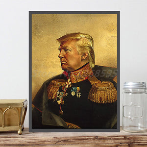 Framed Portrait of DONALD TRUMP President of the United States....on canvas