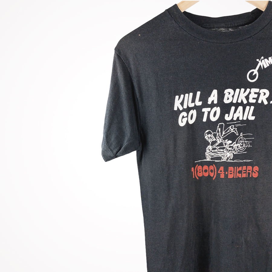 80s / 90s Kill a Biker Go To Jail  Biker Vintage T-Shirt