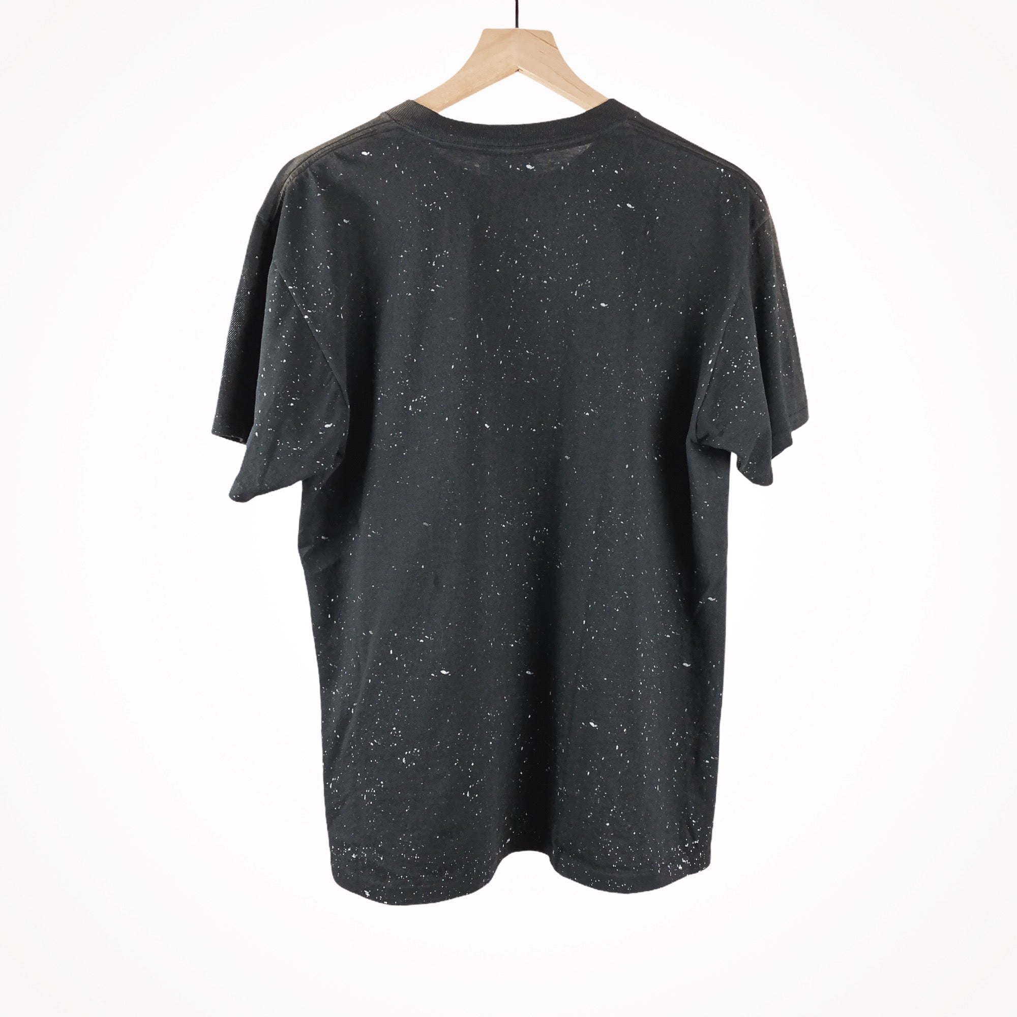Vintage 1990s 3D Emblem Galaxy Pinup All-Over Print T-Shirt