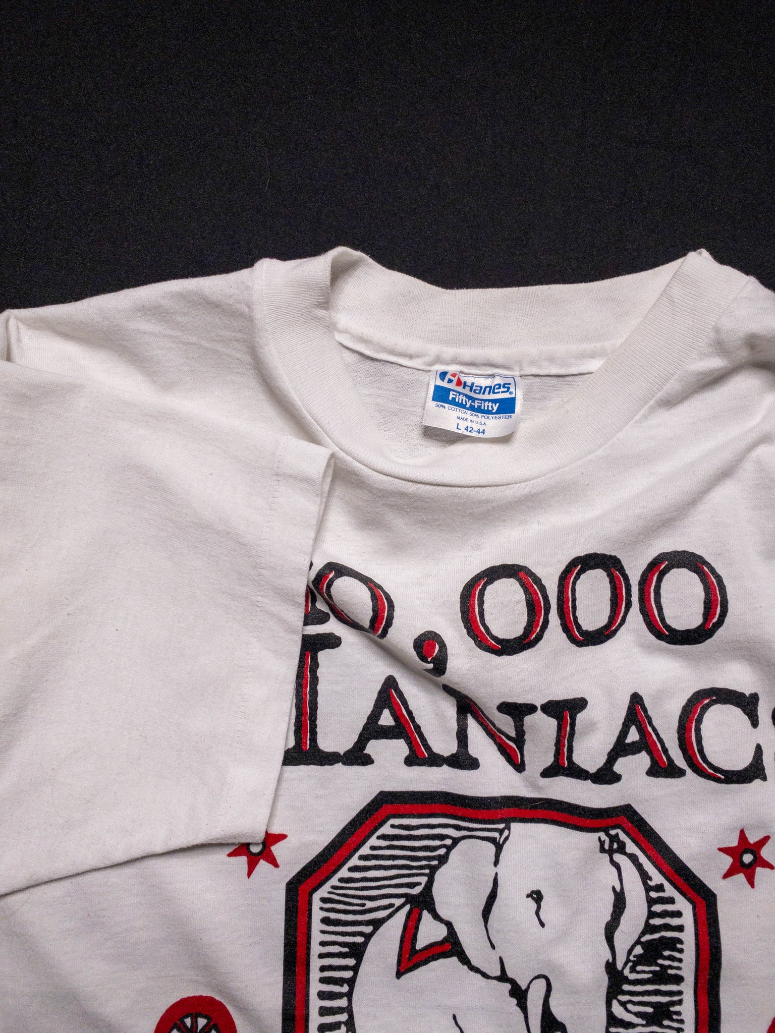 1989 10,000 Maniacs Blind Man's Zoo US Tour T-Shirt