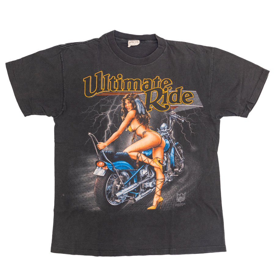 1996 American Biker Ultimate Ride Pin-Up Vintage T-Shirt