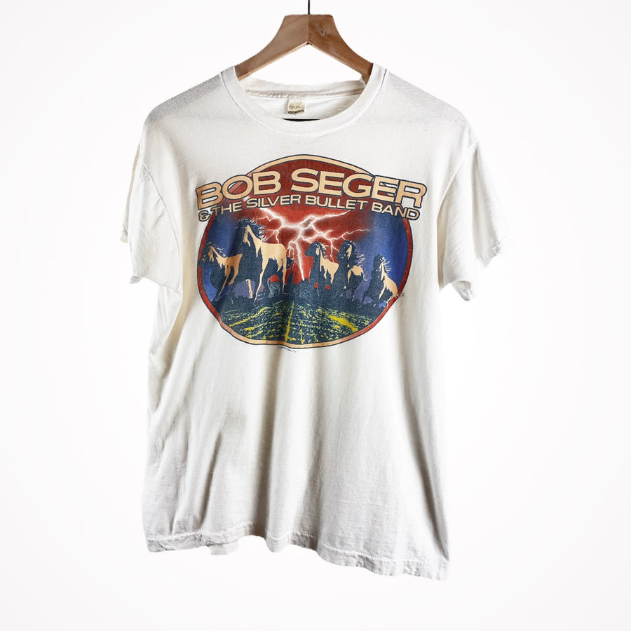 Vintage 1986 Bob Seger Silver Bullet Band Indiana Summer Time Single Stitch Tour T-Shirt