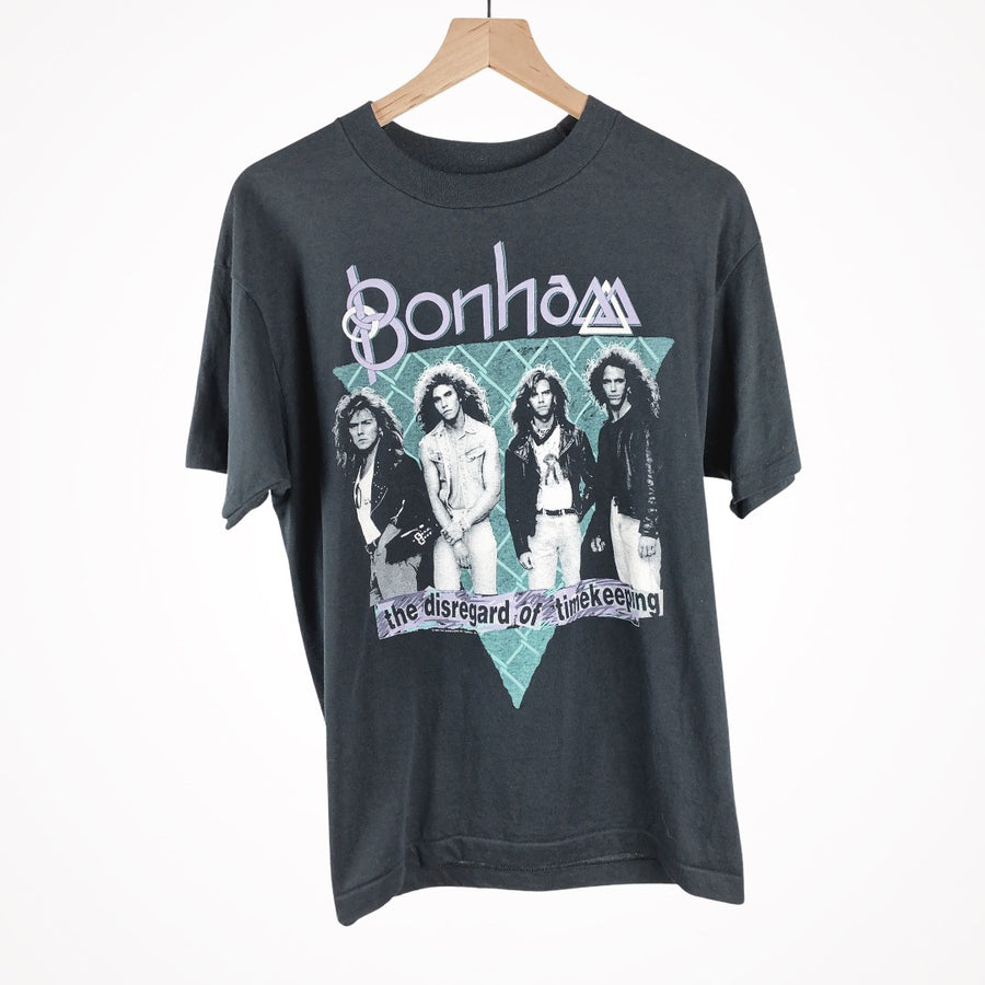 Vintage 1989 Bonham the disregard of timekeeping t-shirt