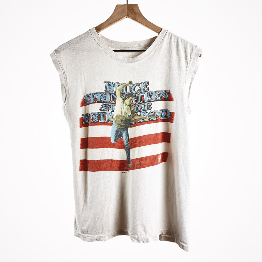 Vintage 1984 Bruce Springsteen Born In The USA Tour Sleeveless Band T-Shirt