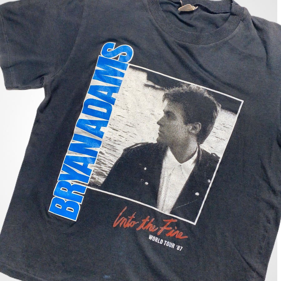 Vintage 80s Bryan Adams 1987 Into The Fire World Tour T-Shirt