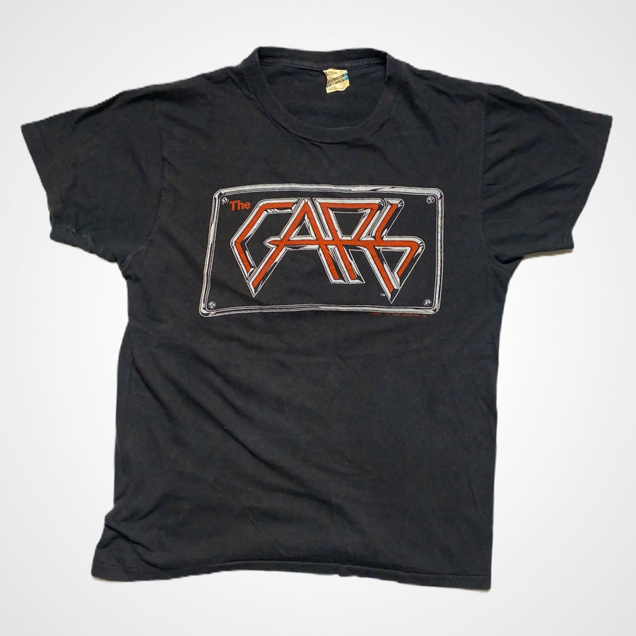 Vintage 1982 The Cars Emlem On the road tour T-Shirt