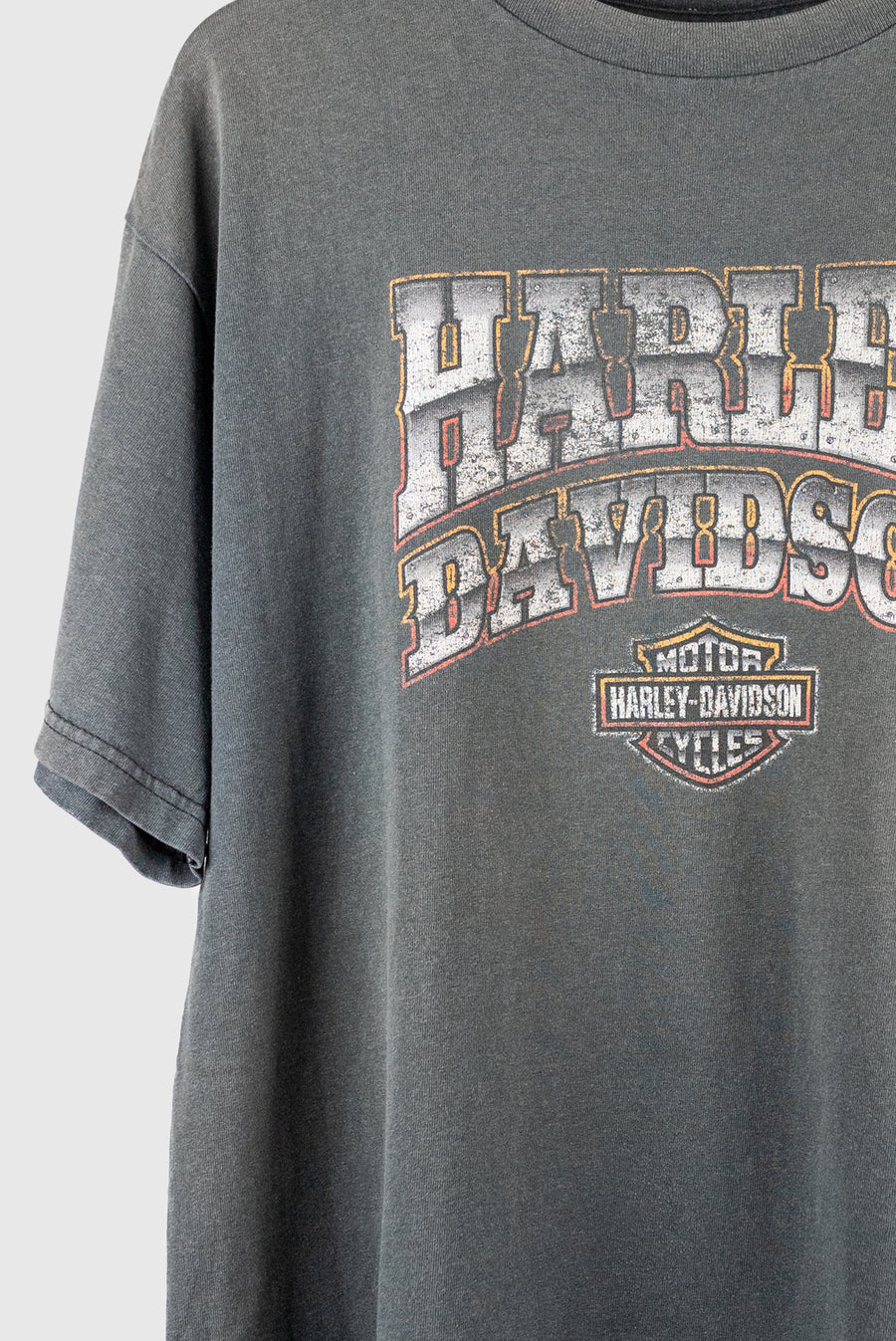 Harley Faded Grey Vintage Spellout