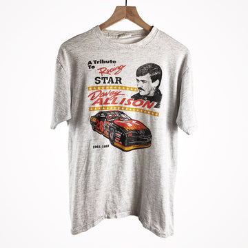 Vintage Nascar 1993 Davey Allison Tribute Racing Single Stitch T-Shirt