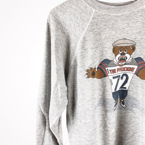 Vintage 80s Chicago Bears Refrigerator Perry The Fridge Pullover Crewneck Sweater