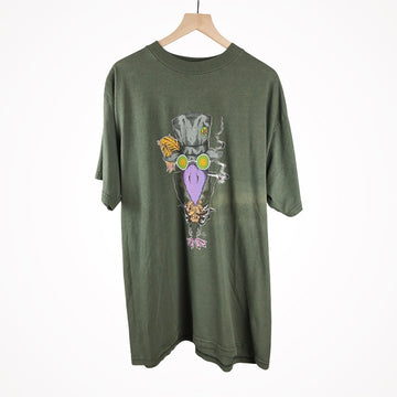 Vintage 1995 The Black Crowes Alan Forbas Art Olive Green Band T-Shirt