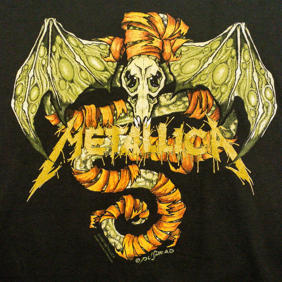 1991 Metallica Pushead Wherever I May Roam Bat Vintage T-Shirt