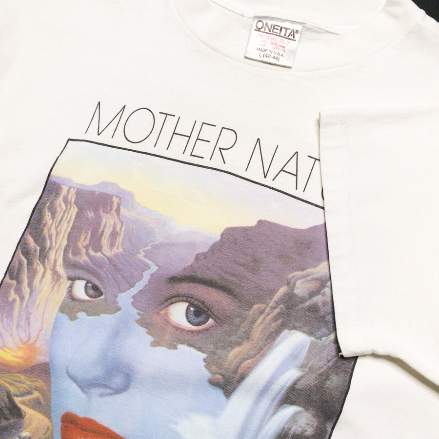 1990 Mother Nature Artist Print Vintage Graphic T-Shirt