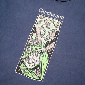 1990s Quicksand Shark Storm Vintage Long Sleeve T-Shirt