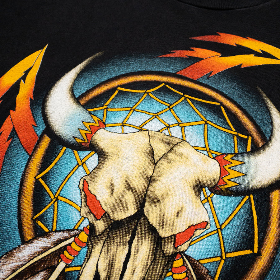 1994 Easyriders Cow Skull Dreamcatcher Vintage T-Shirt